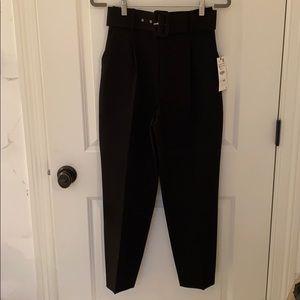 Zara black high waist pants